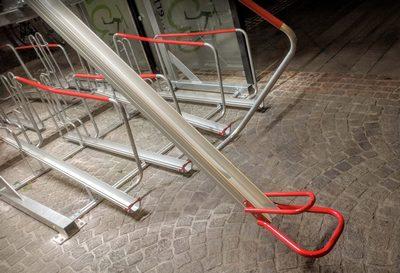 Doppelparker: Obere Schiene herausgezogen