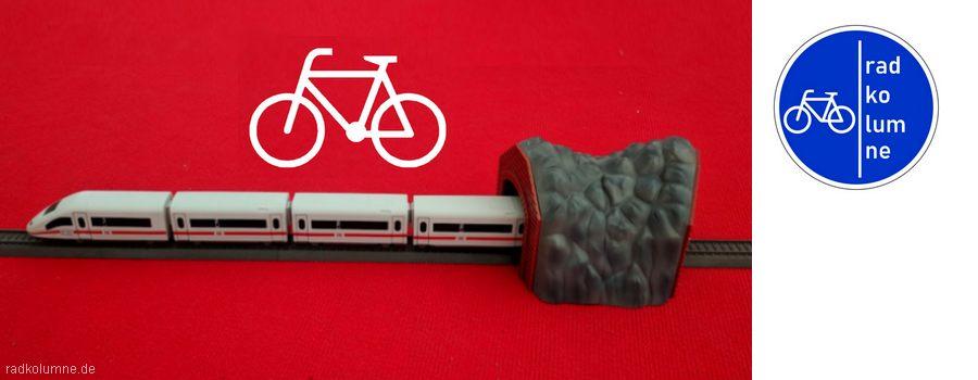 ICE-Modell mit Fahrradsymbol