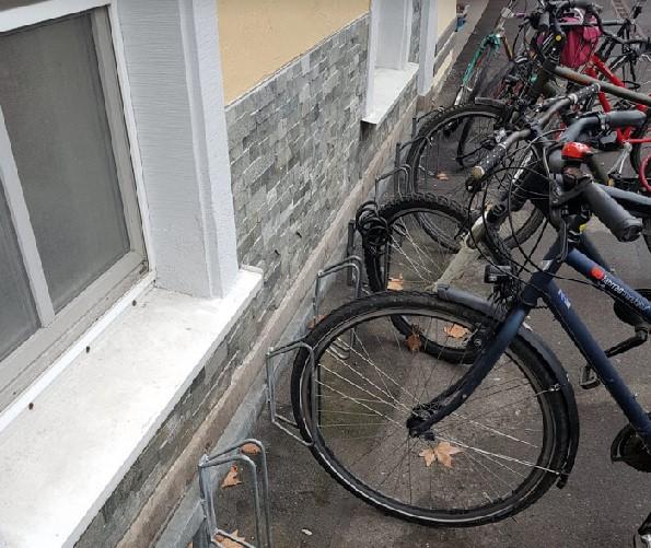 Fahrradständer als Felgenbieger