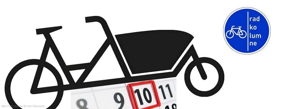 Lastenrad und Kalender