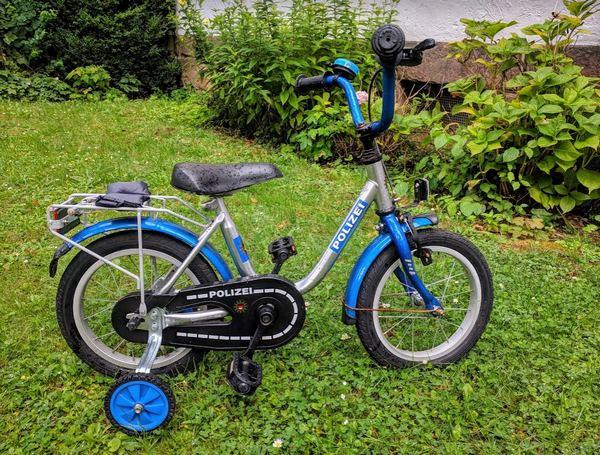 Kinder-Polizei-Fahrrad