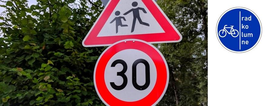 Bussgeldkatalog: Tempo-30-Schild